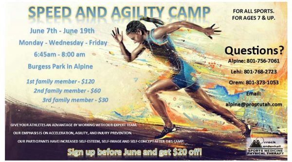 Speed and Agility Camp Online Registration